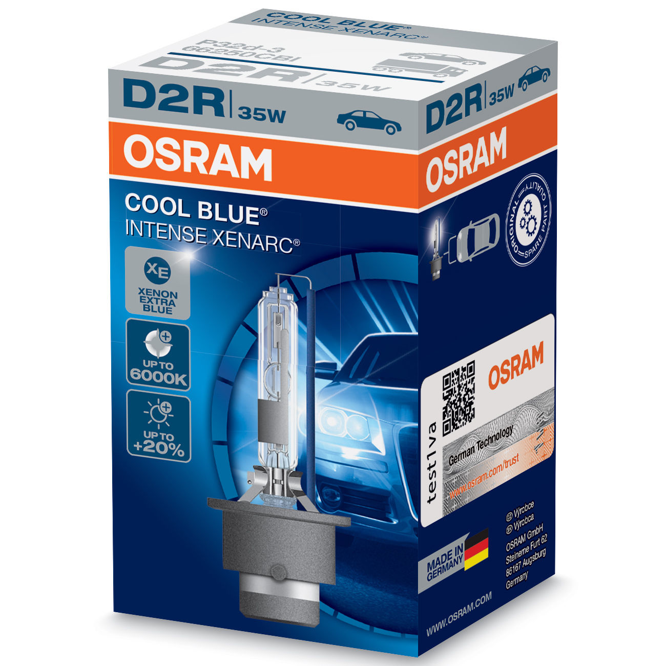 d2r osram xenarc cool blue intense hid 6000k xenon headlight bulb single ebay. Black Bedroom Furniture Sets. Home Design Ideas