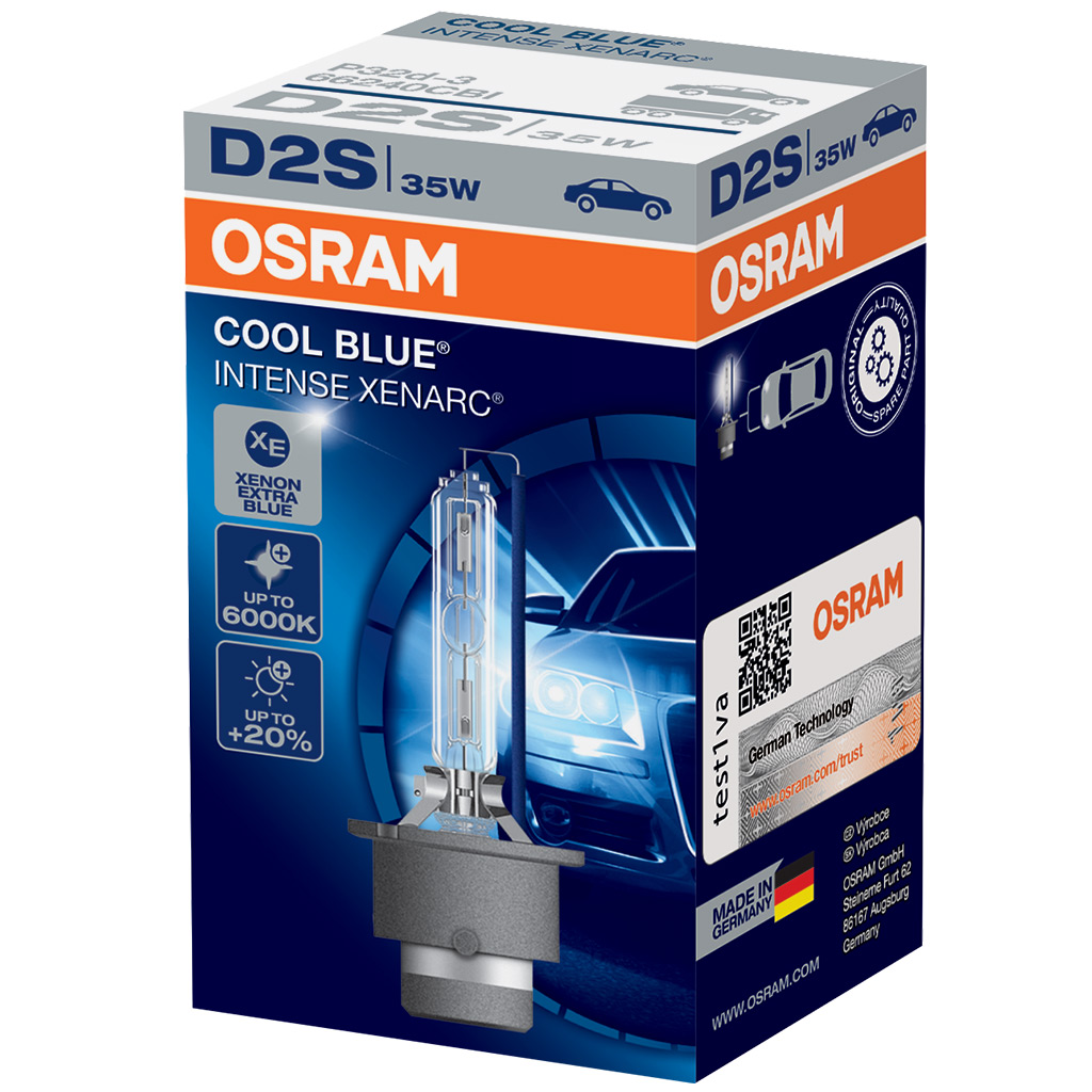 d2s osram cool blue intense 35w p32d 2 xenarc xenon hid bulb 1 piece 66240cbi ebay. Black Bedroom Furniture Sets. Home Design Ideas