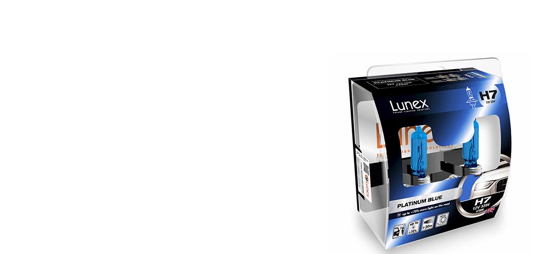 twin Lunex Platinum Azul H7 Coche Faro Bombilla 4700K